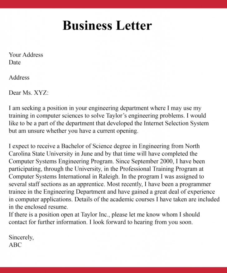 How To Start A Business Letter