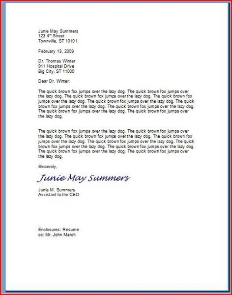 How To Type A Business Letter