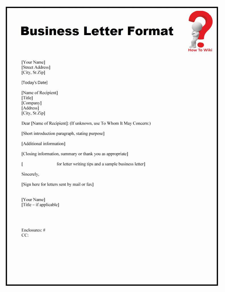 How To Write A Business Letter For A Company With Example