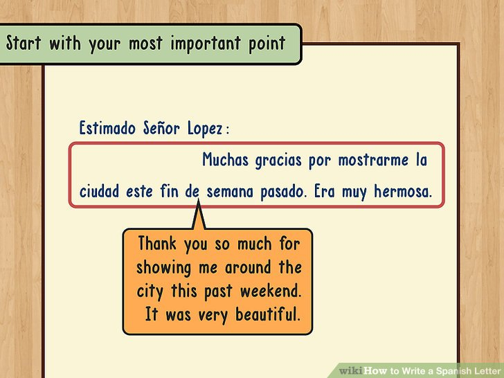 How To Write A Spanish Letter 14 Steps with Pictures