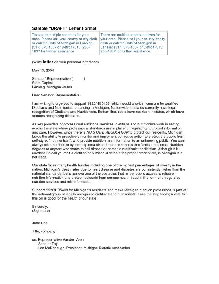Formal Business Letter Cc