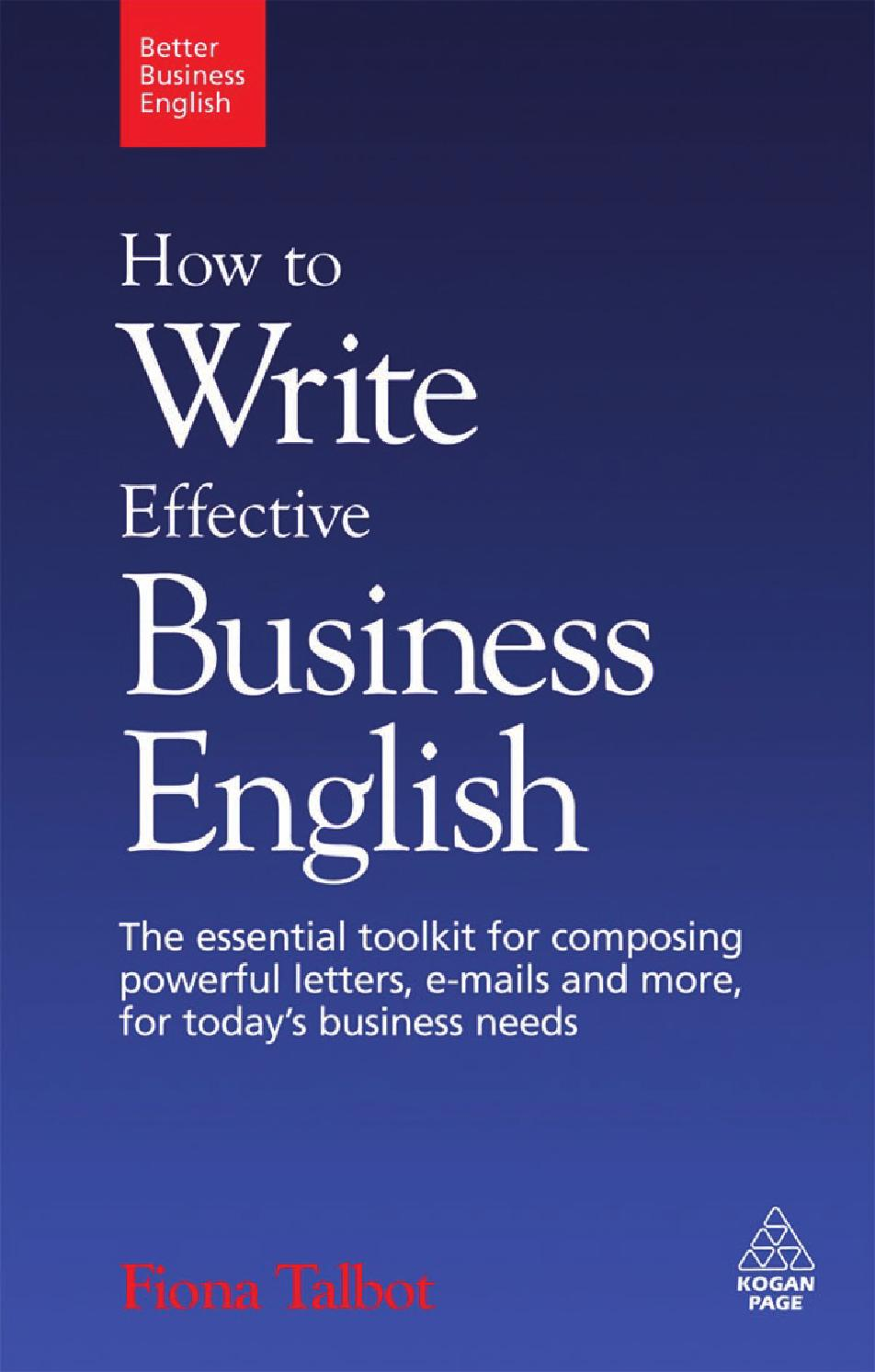 How To Write Effective Business English The Essential