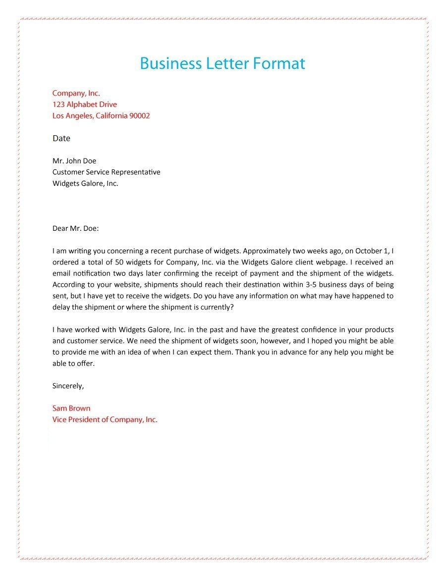 Pin On Business Letter Format Example And Images