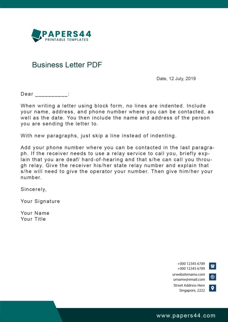 Business Letters PDF