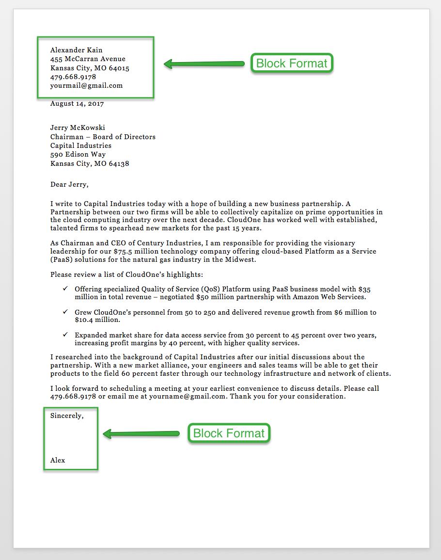 Sample Business Letter Format 75 Free Letter Templates RG