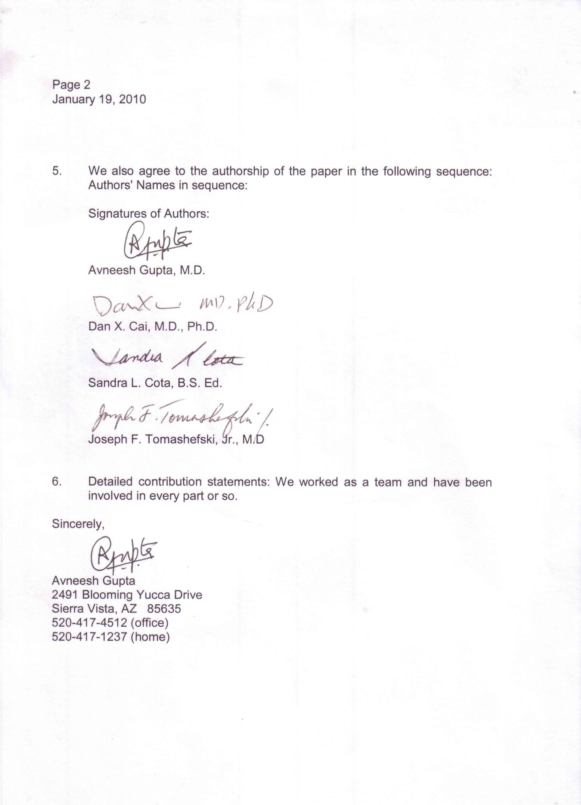Sample Business Letter With Three Signatures Sample