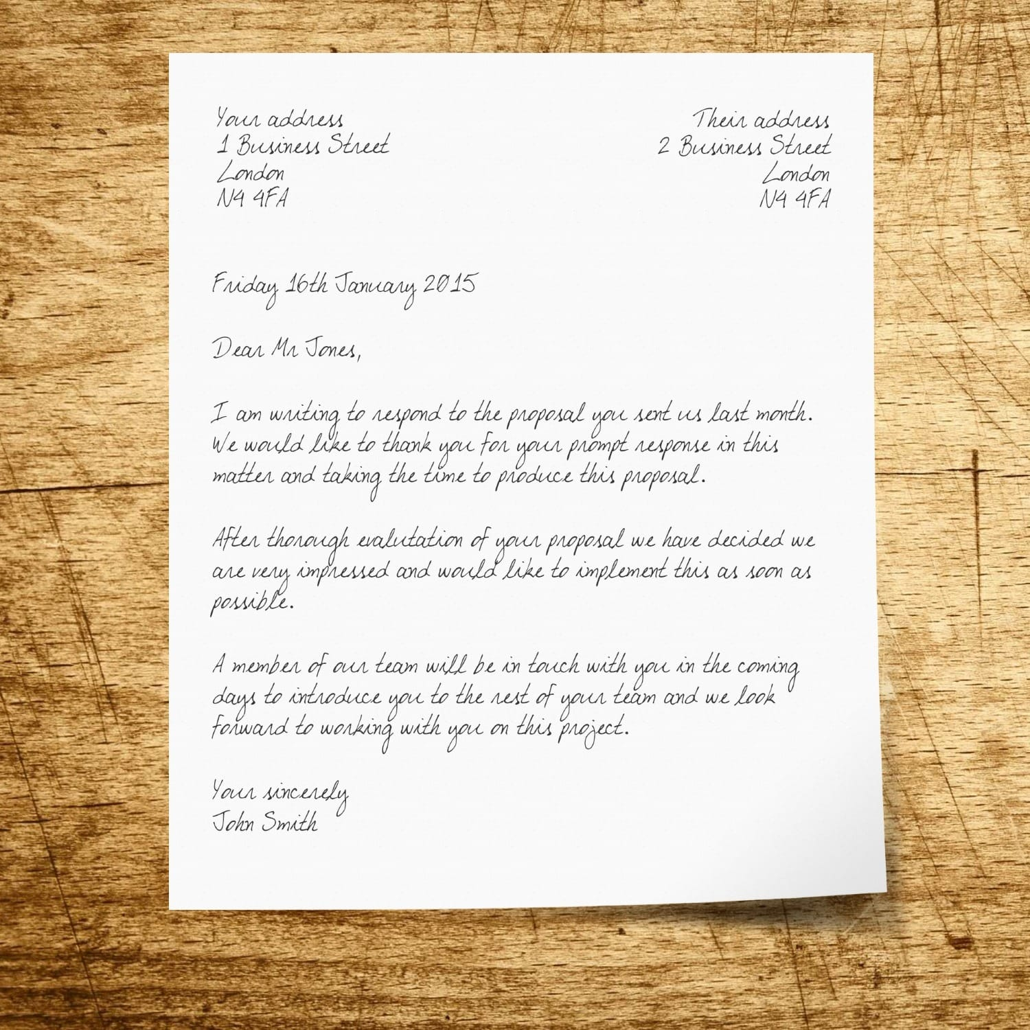 Writing A Business Letter How To Structure A Letter